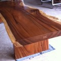 Dining or conference table reclaimed solid slab acacia wood table