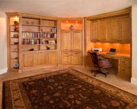 Home Office with Zoom-Room convertible guest bed - Closed ...