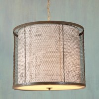 Wire Cage Drum Shade Lantern