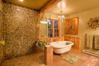 Montana Lodge Themed Barn Home - Traditional - Bathroom ...