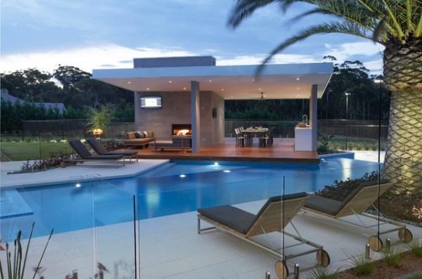 rural resort - modern pool