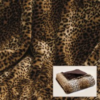 Leopard Print Faux Fur Throw - Contemporary - Throws - by ...