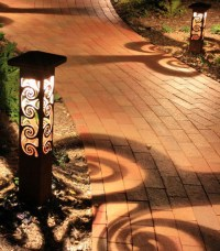 Decorative steel bollard lights - Contemporary - Outdoor ...