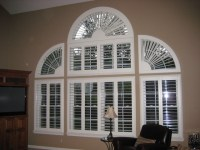 Arched Window Coverings - Traditional - Living Room - by ...