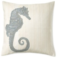 Seahorse Raffia Pillow - Contemporary - Decorative Pillows ...