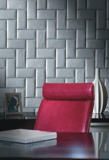 Garrett Leather Wall Panels  Wall Tiles  Modern  Home