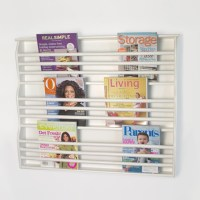 Deluxe Wall-Mount Magazine Rack - Contemporary - Magazine ...