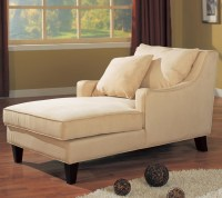 Accent Seating Microfiber Chaise Lounge by Coaster Sku ...