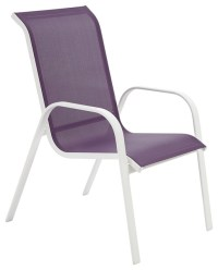 Janeiro Metal Armchair, Purple - Contemporary - Garden ...