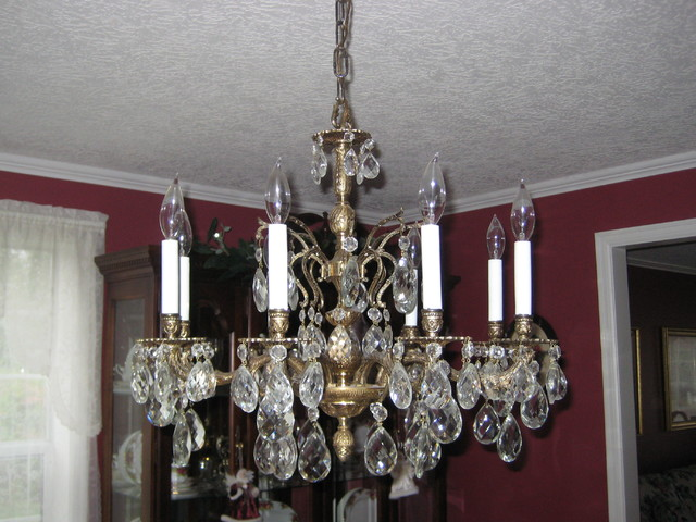 Brass Dining Room Chandelier Large Vintage And Traditional Other Metro By Julie
