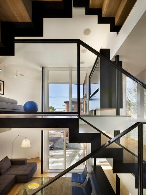Split Level House Modern Staircase Philadelphia By