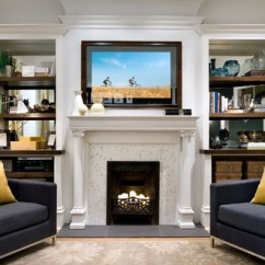 How To Design Living Room With Fireplace And Tv Unit Designs In 15 Creative Ways Or Decorate Around The Suera Candice Olson Houzz