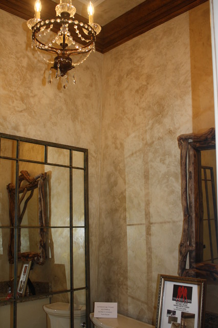 The Painted Lady Plasters  Faux Finishes  Decorative Concrete  Traditional  Powder Room
