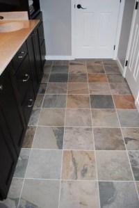 Slate Gray Porcelain Tile, Whtie Subway Tile - Traditional ...