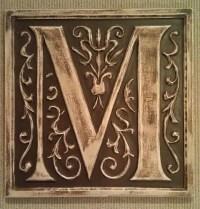 Monogram stone letter plaques - Outdoor Decor - boston ...