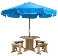 All Things Cedar UB33 Patio Umbrella in Tan, Blue, Lime ...
