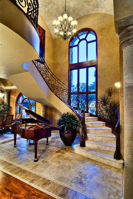 Tuscan Staircase  Traditional  Staircase  austin  by