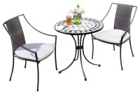 Gray Table And Chairs Outdoors - Home Design Inside