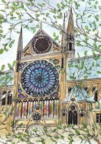 Paris Decor - Paris Wall Art - Notre Dame Rose Window ...