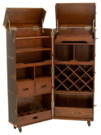 Rolando Rolling Bar Cabinet & Wine Rack traditional-wine ...