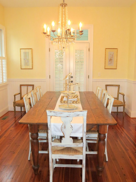 French Country Dining Room with Antique Chairs  Dining