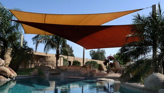 photos shade sails over pool traditional pool other metro