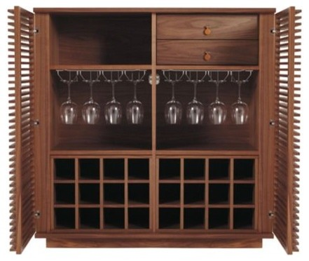 wine rack bar design