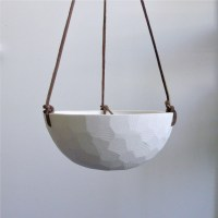 Geometric Hanging Porcelain Planter, Large by Revisions ...