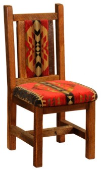 Upholstered Reclaimed Wood Chair Standard Finish ...