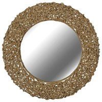 "Kenroy Home Seagrass 33"" Round Rope Wall Mirror - Beach ..."