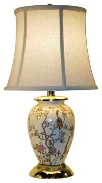 Traditional Bird Garden Porcelain Table Lamp - Traditional ...