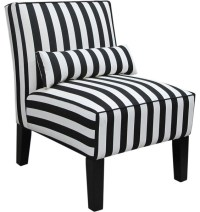 Skyline Furniture Canopy Stripe Armless Upholstered Chair ...