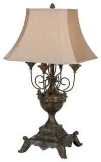 Raschella Antique Bronze Old World Table Lamp