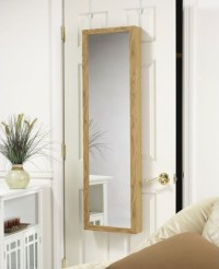 Over the door jewelry Armoire Mirror in Oak