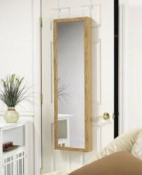 Over the door jewelry Armoire Mirror in Oak - Modern ...