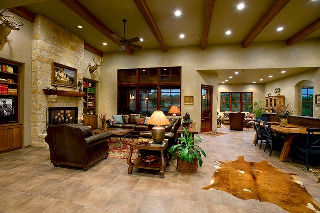 Texas Tuscan II Mediterranean Living Room Austin By Tony Roberts Custom Homes