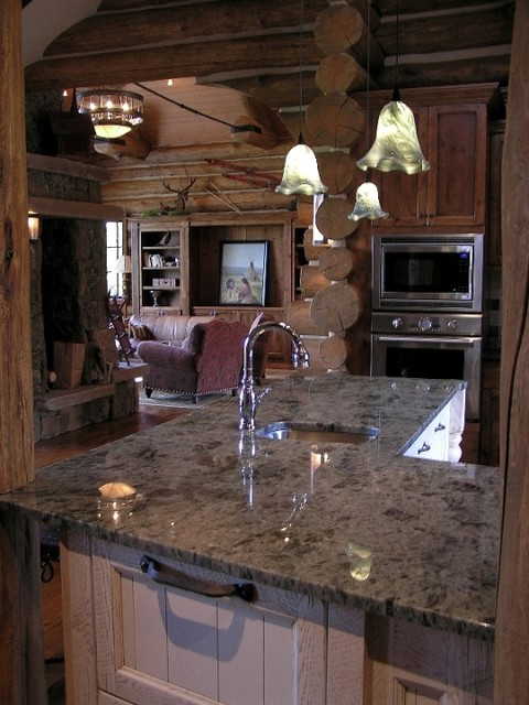 Koselig Log Cabin Interior Photo  Contemporary  Kitchen  denver  by Teton Heritage Builders