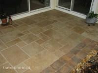 Walnut Brushed & Chiseled Travertine Tile