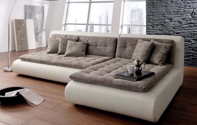 leather sectional sofa chicago corduroy bean bag shark tank mona modular - contemporary sofas ...