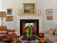Greek Revival - Farmhouse - Living Room - burlington - by ...