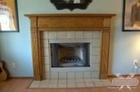 Ceramic Tile Hearth on Fireplace - New Porcelain Floors