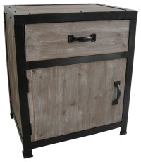 INDUSTRIAL END TALBE - Modern - Nightstands And Bedside ...