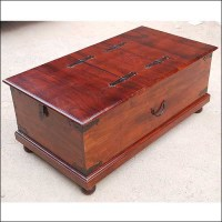 Lincoln Study Double Top Storage Trunk Coffee Table ...