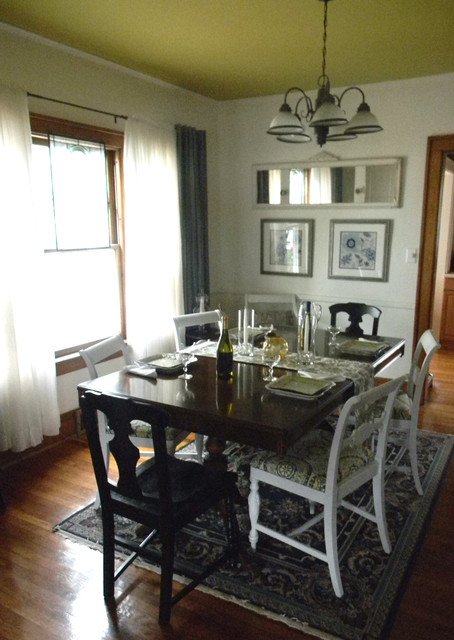 Small budget dining room redesign  Traditional  Dining Room  new york  by nikkiMdesign