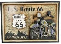 "U.S. Route 66 ""The Mother Road"" Motorcycle Wall Plaque ..."