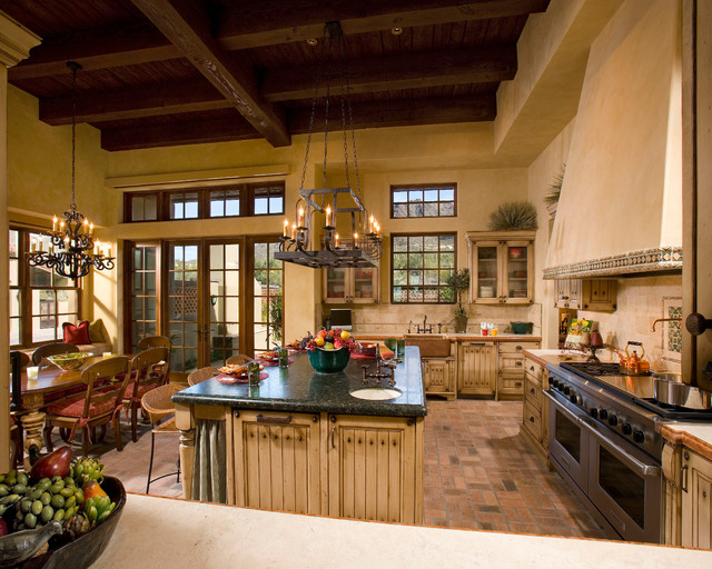 kitchen towel hanging ideas aid colors spanish hacienda - traditional phoenix by ...