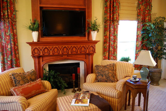 French Country Traditional Family Room Jacksonville