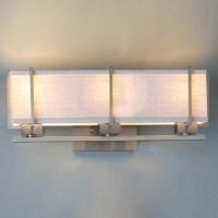 Energy Star Linen Box Shade Bath Vanity Light - Lamp ...