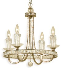 Aristocrat Soft Gold Crystal Hollywood Regency 4 Light ...