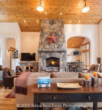 Mountain Lodge style Property - Craftsman - Living Room ...